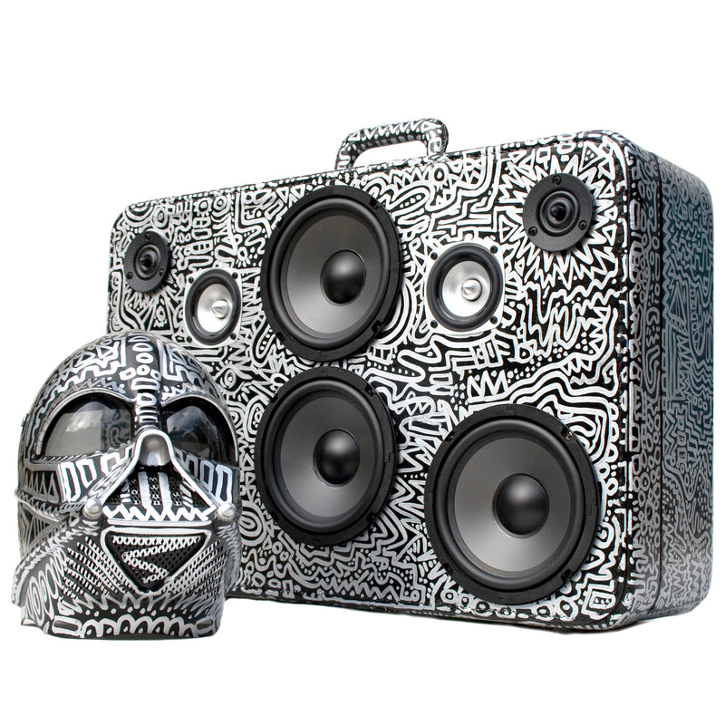 Vader Case 200 Watt BoomCase - Vintage Suitcase BoomBox Suitcase Speaker w/ Bluetooth