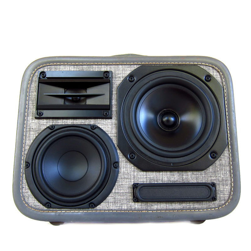 EX-4 Mini 50 Watt BoomCase - Vintage Suitcase BoomBox Suitcase Speaker w/ Bluetooth