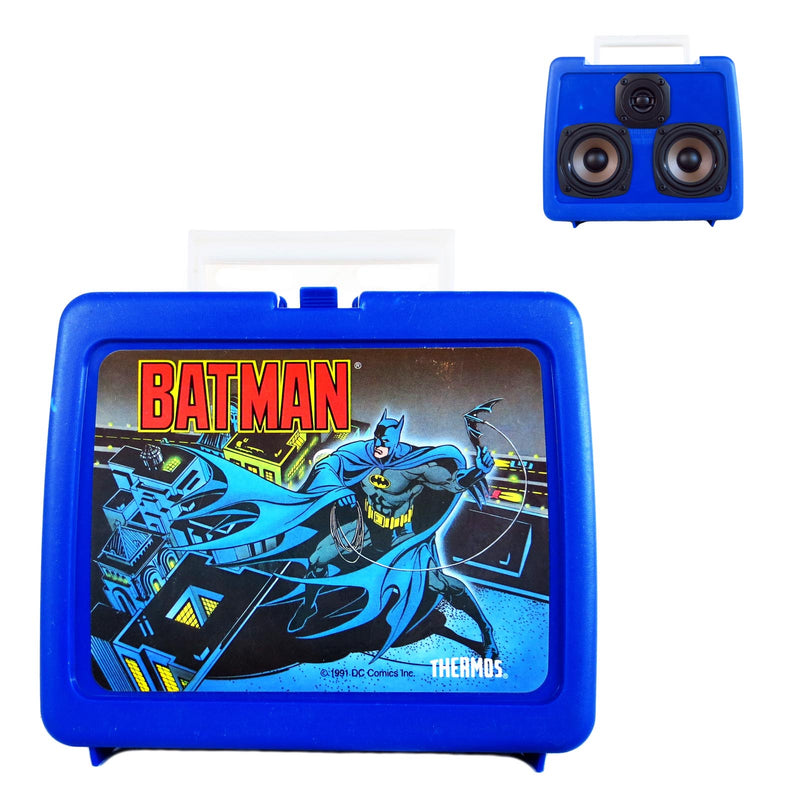 Batman Lunch Boom 50 Watt BoomCase - Vintage Suitcase BoomBox Suitcase Speaker w/ Bluetooth
