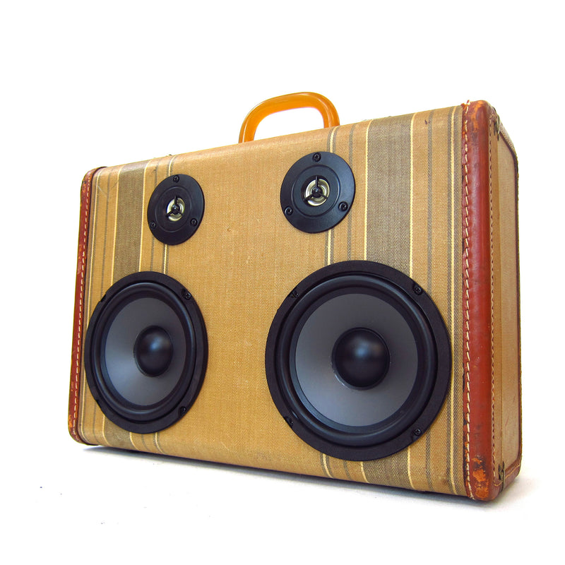 Beach Boy 100 Watt BoomCase - Vintage Suitcase BoomBox Suitcase Speaker w/ Bluetooth
