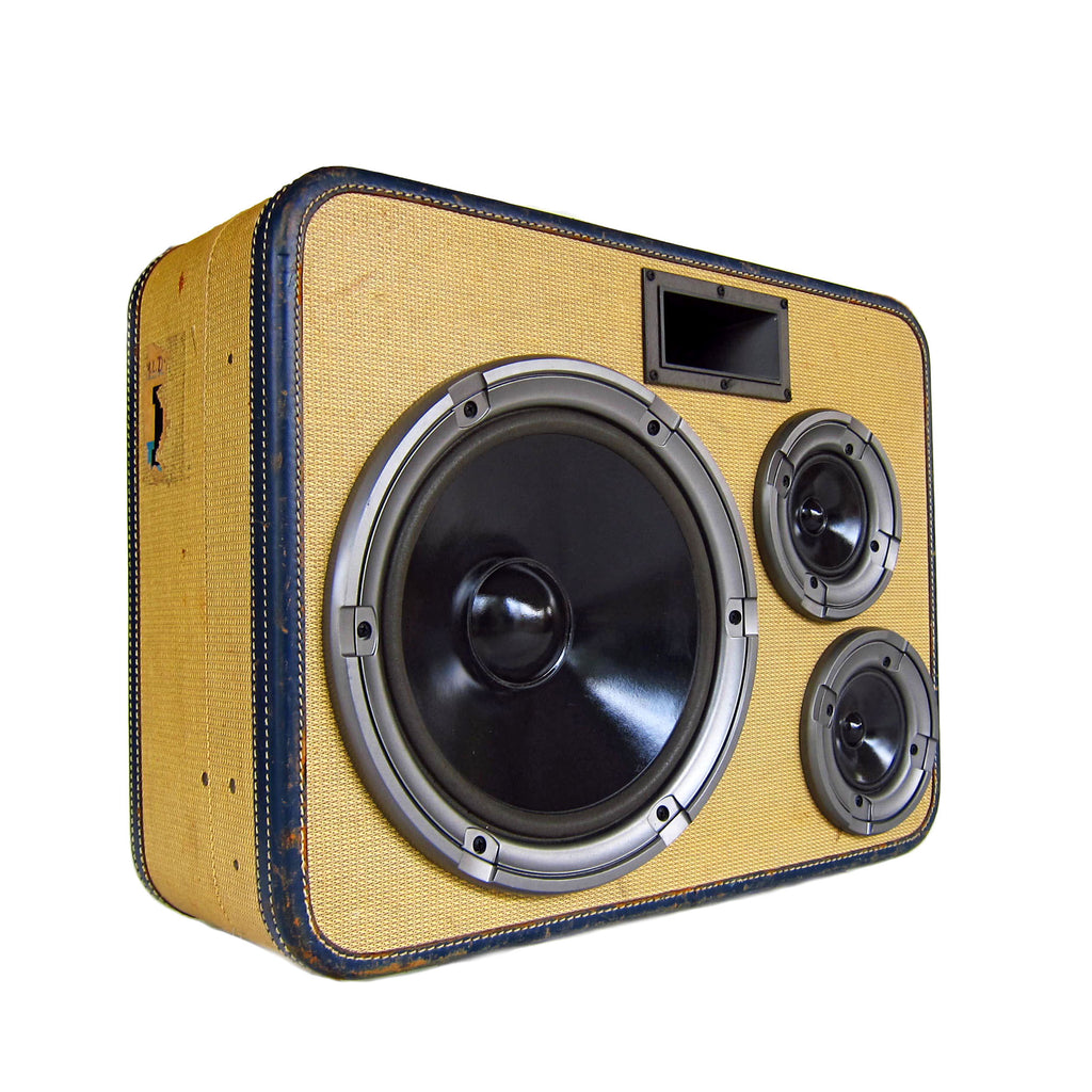 Big Boss Man 200 Watt BoomCase - Vintage Suitcase BoomBox Suitcase Speaker w/ Bluetooth