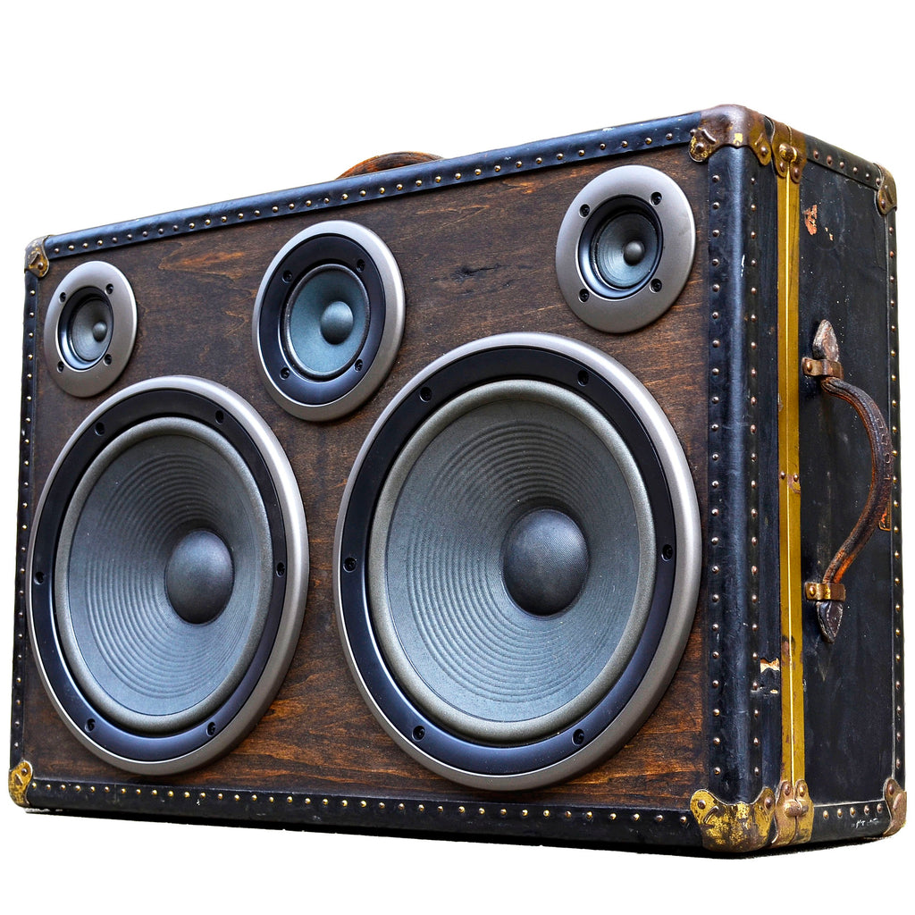 Big Hitter 400 Watt BoomCase - Vintage Suitcase BoomBox Suitcase Speaker w/ Bluetooth