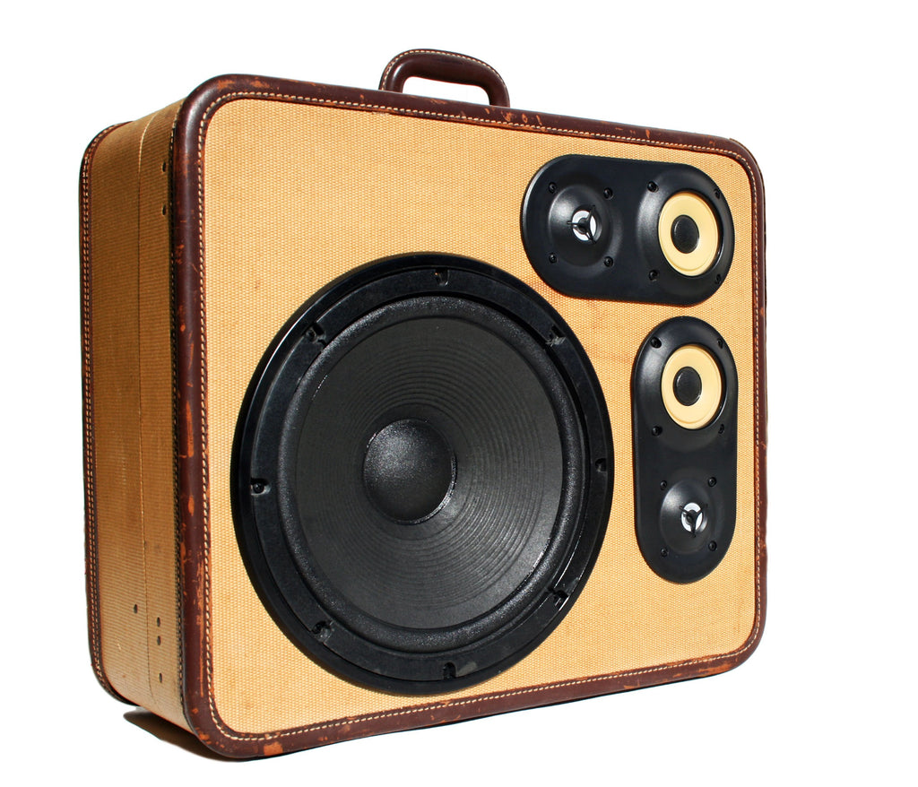 Big Bot 200 Watt BoomCase - vintage suitcase portable boombox
