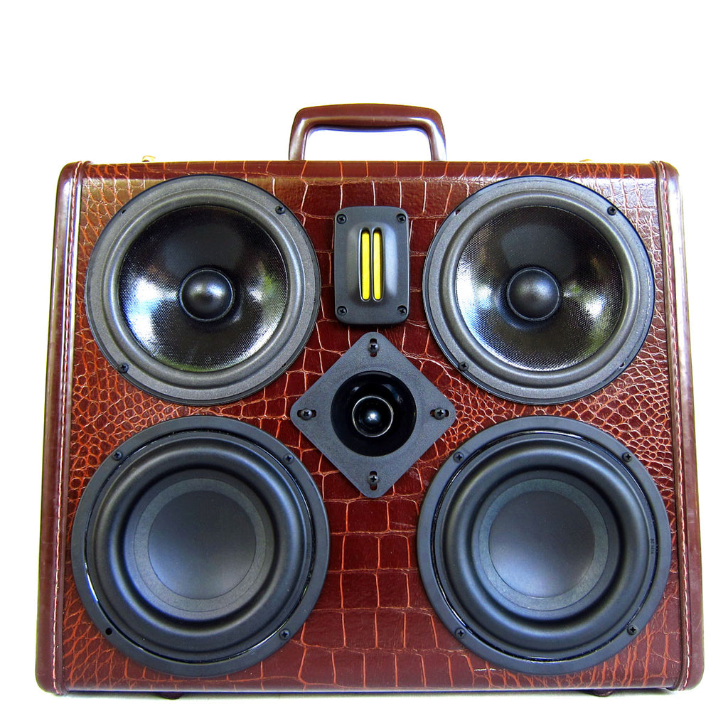 Business Gator 200 Watt BoomCase - vintage suitcase portable boombox