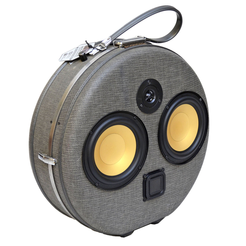 Vintage BoomBox BoomCase Grey - 100 Watts Bluetooth