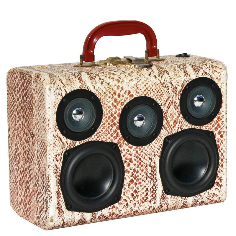 Mini Snake 50 Watt BoomCase - vintage suitcase portable boombox