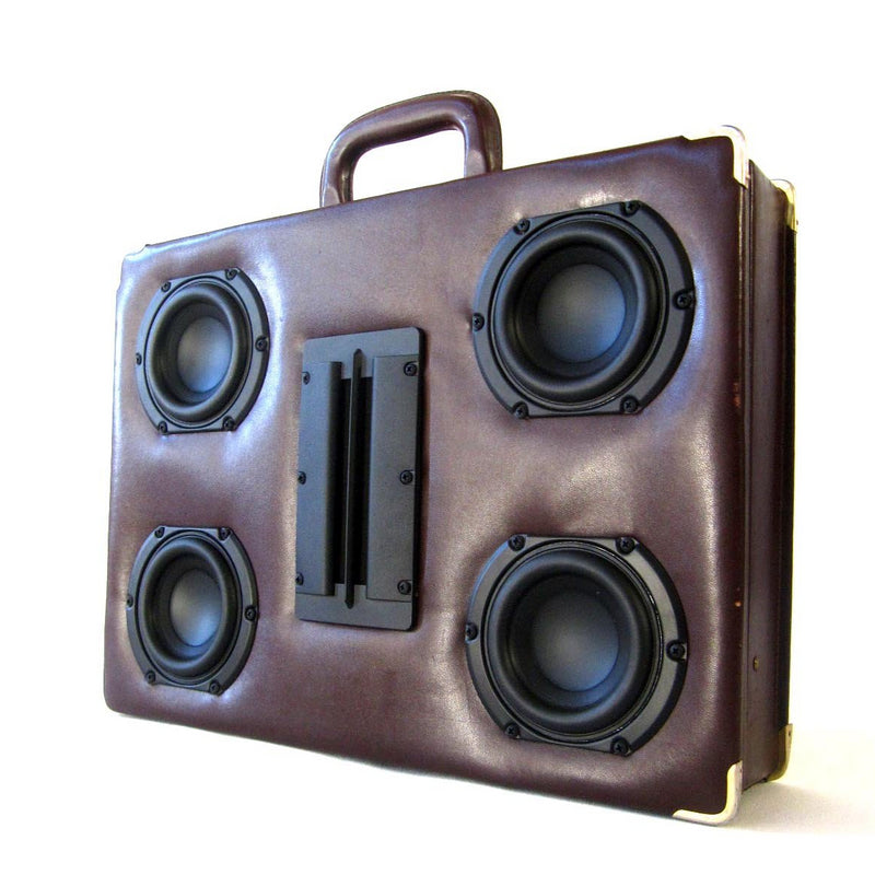 Business Blaster 100 Watt BoomCase - Vintage Suitcase BoomBox Suitcase Speaker w/ Bluetooth