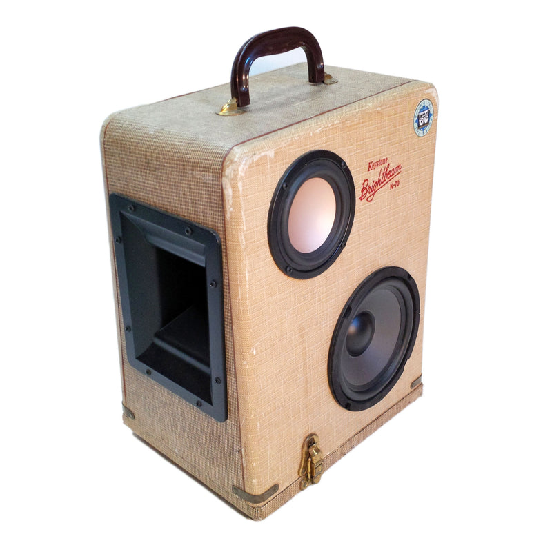 Bright Beam 50 Watt BoomCase - Vintage Suitcase BoomBox Suitcase Speaker w/ Bluetooth
