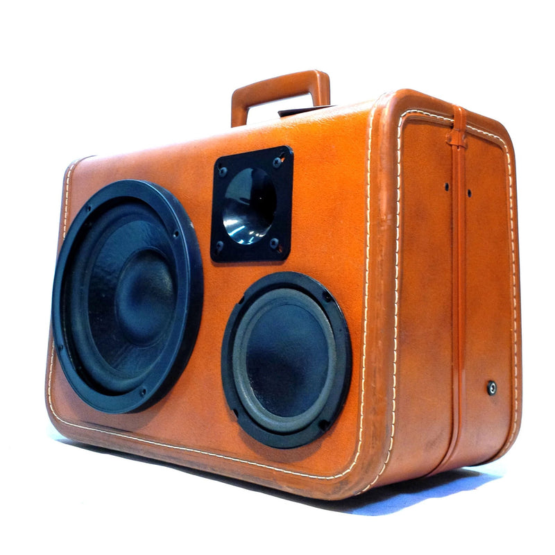 Brownsville 100 Watt BoomCase - Vintage Suitcase BoomBox Suitcase Speaker w/ Bluetooth