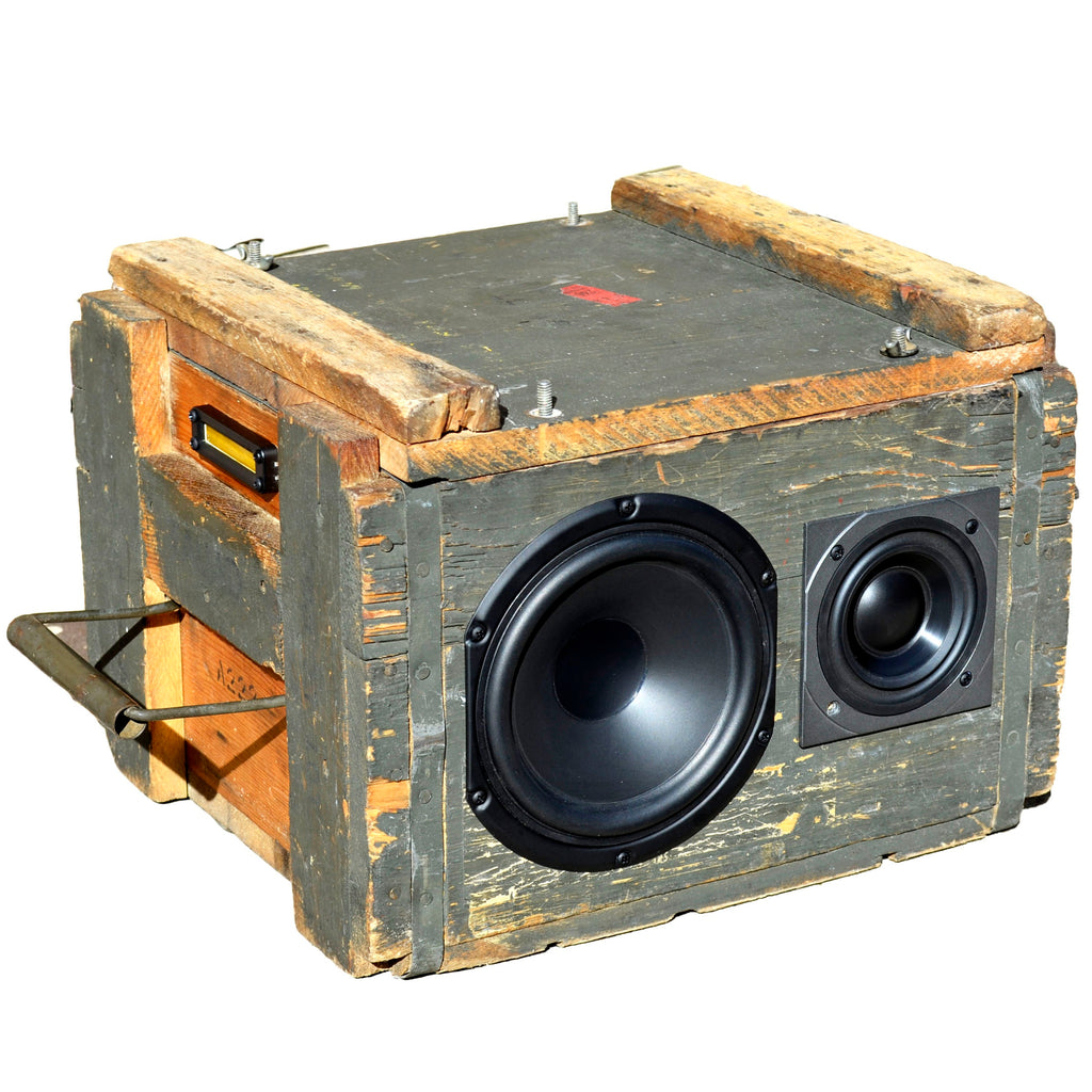 The Brutalist 200 Watt BoomCase - Vintage Suitcase BoomBox Suitcase Speaker w/ Bluetooth
