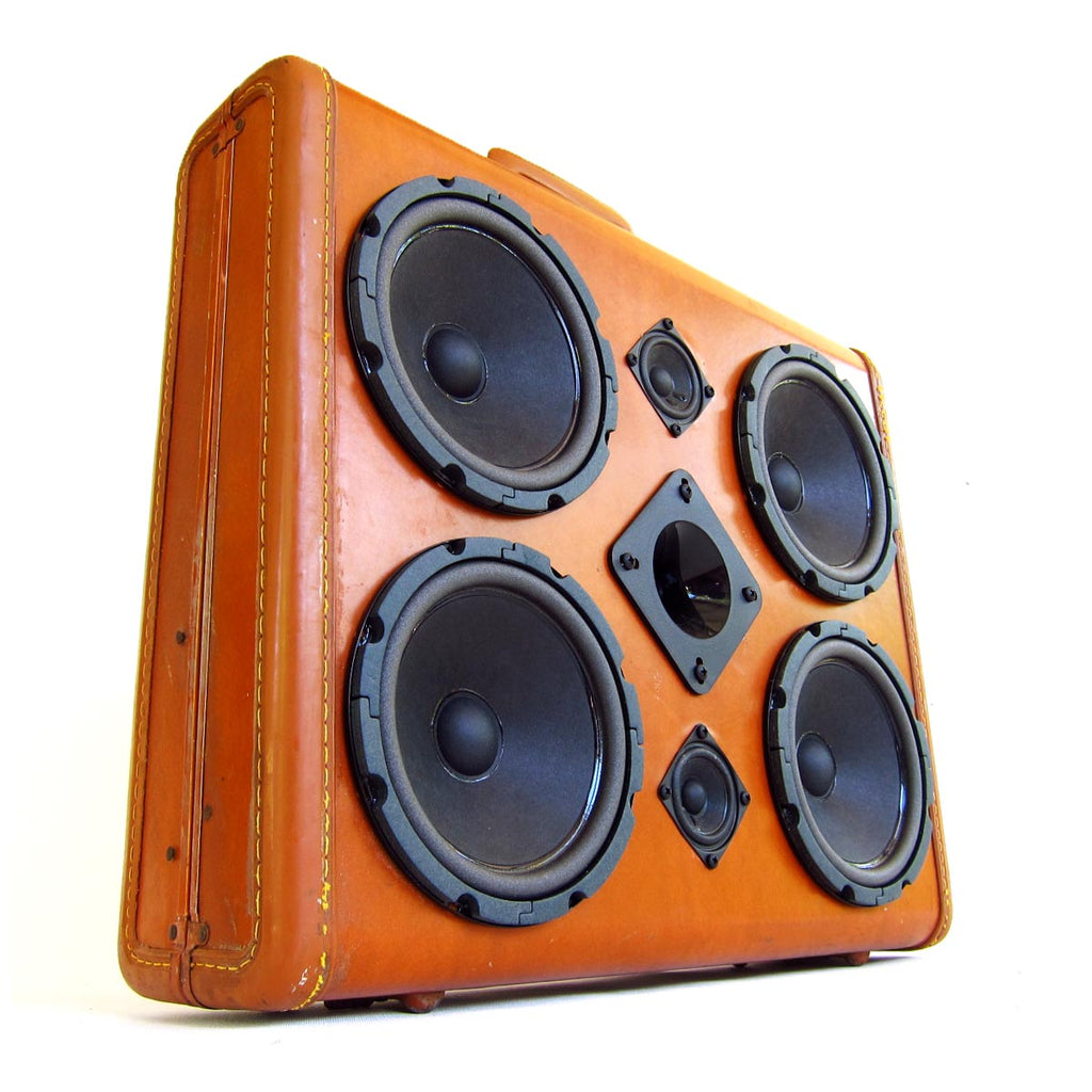 Diamond Fighter 200 Watt BoomCase - Vintage Suitcase BoomBox Suitcase Speaker w/ Bluetooth