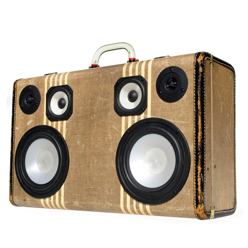 Don Draper 200 Watt BoomCase - Vintage Suitcase BoomBox Suitcase Speaker w/ Bluetooth