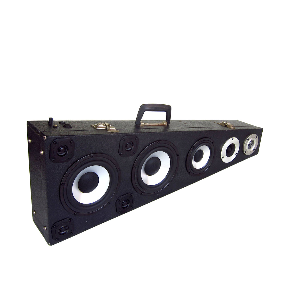 Ecuadorian Rock Star 200 Watt BoomCase - vintage suitcase portable boombox