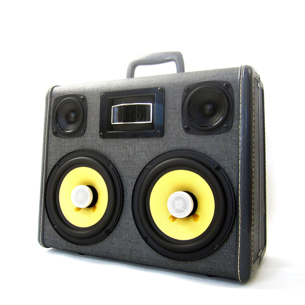 Falcon Eye 200 Watt BoomCase - vintage suitcase portable boombox