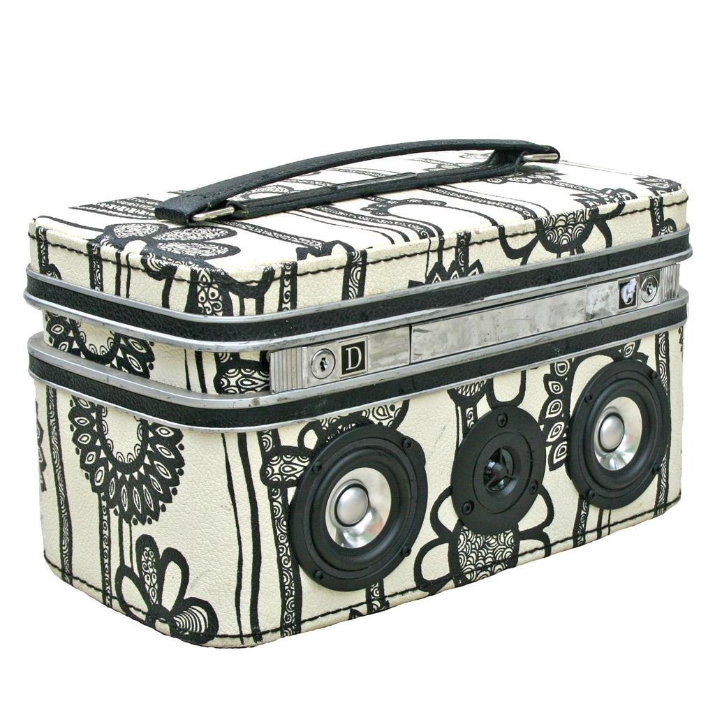 Flower Power 50 Watt BoomCase - vintage suitcase portable boombox