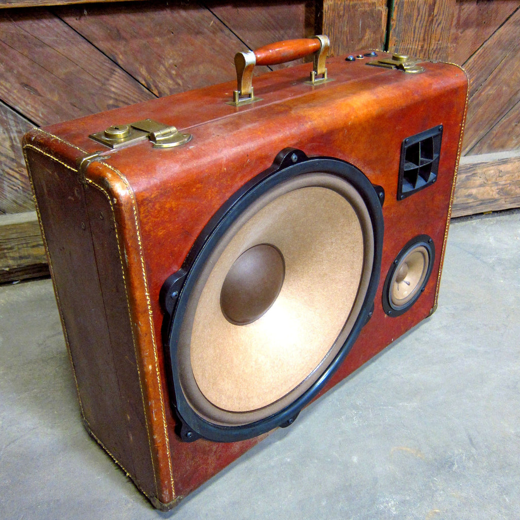 General Sherman 400 Watt BoomCase - vintage suitcase portable boombox