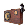 The Gramophone 200 Watt BoomCase - Vintage Suitcase BoomBox Suitcase Speaker w/ Bluetooth
