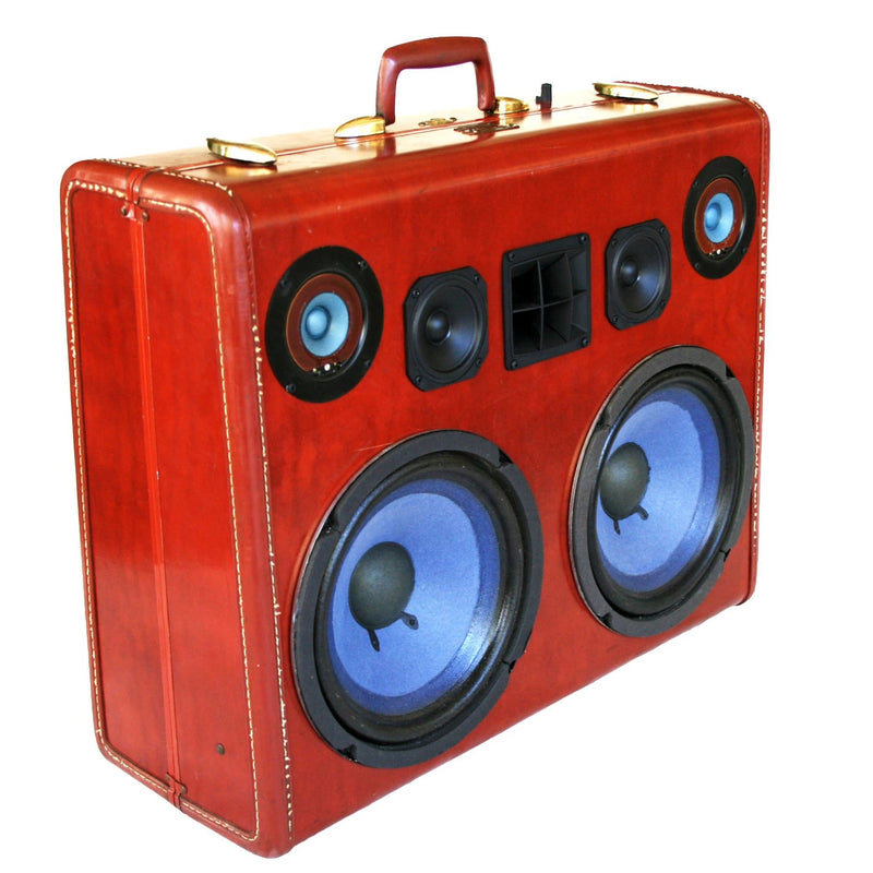 Imperial Party Starter 200 Watt BoomCase - Vintage Suitcase BoomBox Suitcase Speaker w/ Bluetooth