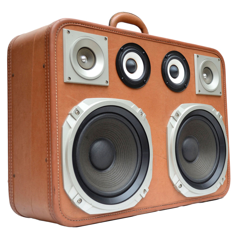 Tech Bot X 400 Watt BoomCase - Vintage Suitcase BoomBox Suitcase Speaker w/ Bluetooth