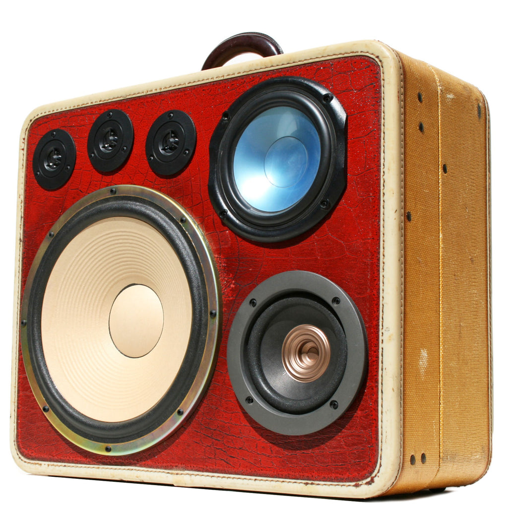 Mad Max 200 Watt BoomCase - Vintage Suitcase BoomBox Suitcase Speaker w/ Bluetooth