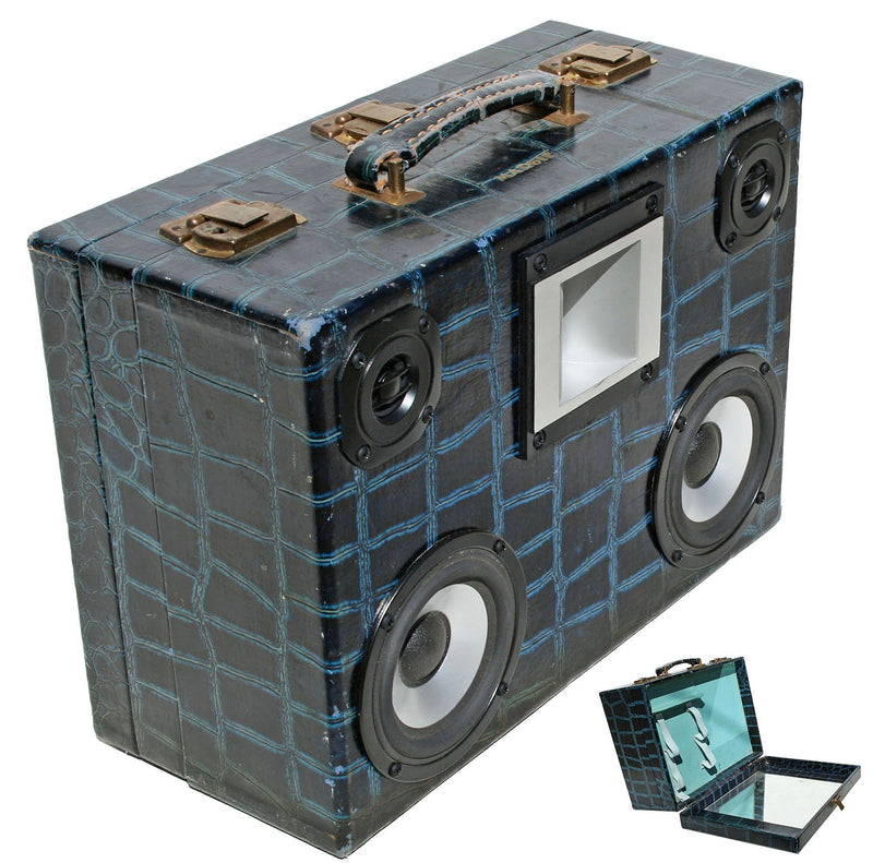 MoonShiner 50 Watt BoomCase - Vintage Suitcase BoomBox Suitcase Speaker w/ Bluetooth