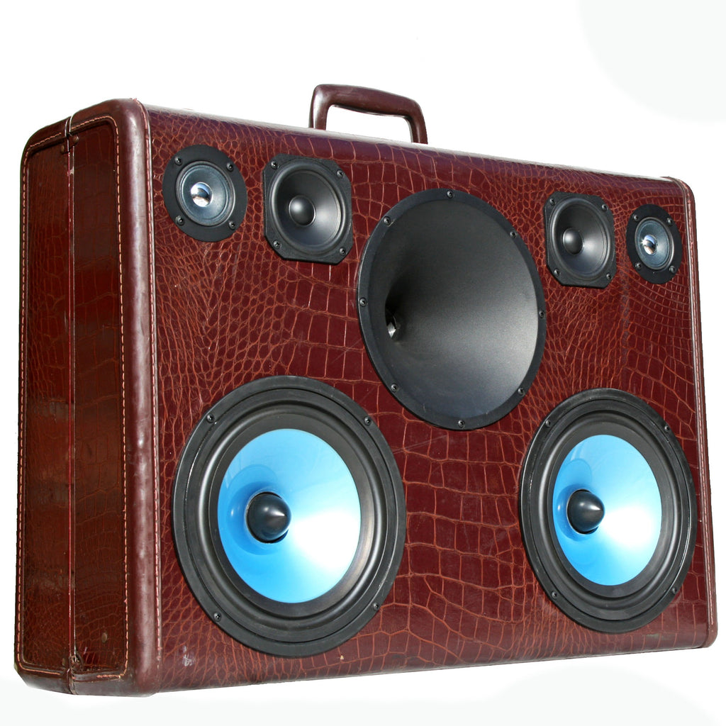 Big Mouth Gator 200 Watt BoomCase - vintage suitcase portable boombox