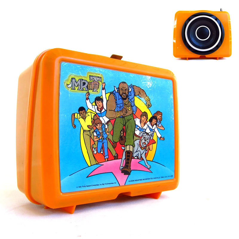 Mr.T Lunch Boom 50 Watt BoomCase - Vintage Suitcase BoomBox Suitcase Speaker w/ Bluetooth