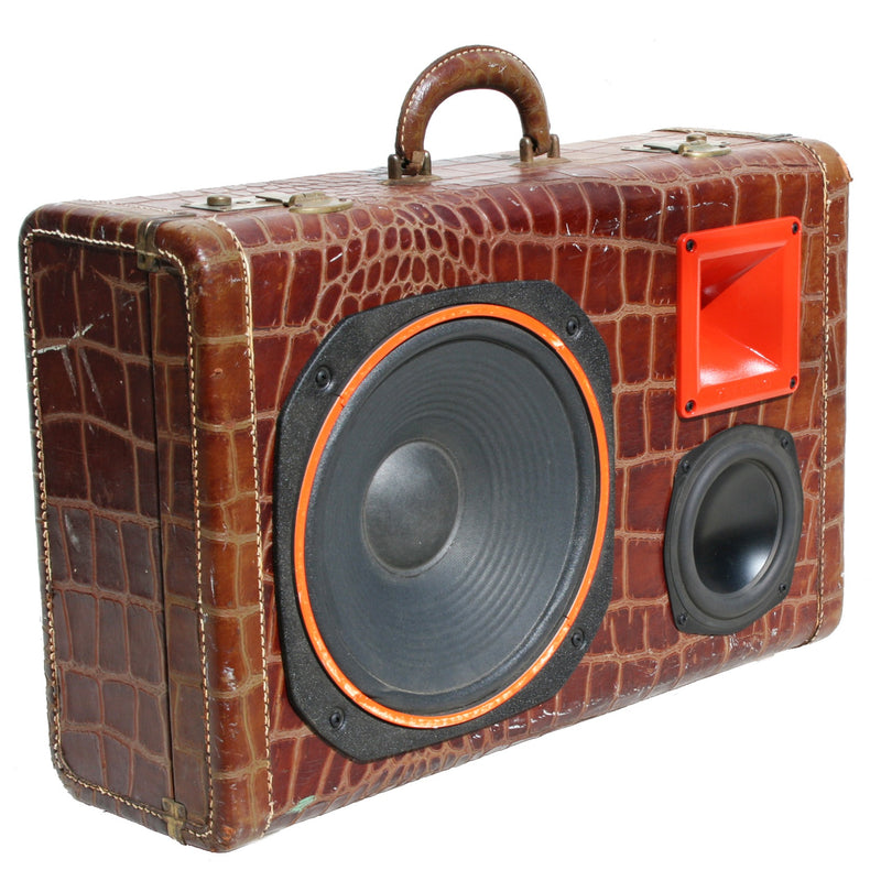 Orange Gator 200 Watt BoomCase - Vintage Suitcase BoomBox Suitcase Speaker w/ Bluetooth
