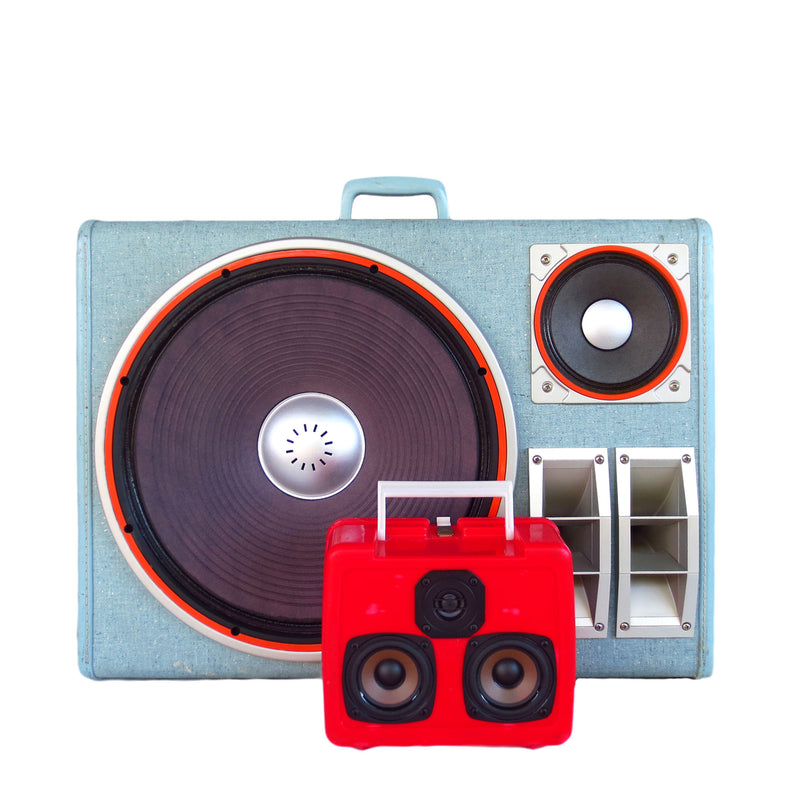 Party Crusher 400 Watt BoomCase - Vintage Suitcase BoomBox Suitcase Speaker w/ Bluetooth