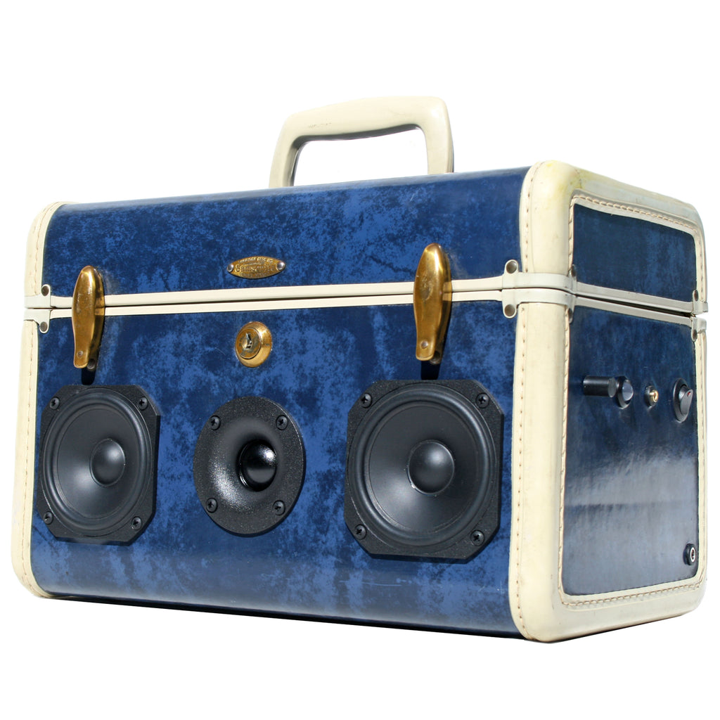 Party Picnic 50 Watt BoomCase - Vintage Suitcase BoomBox Suitcase Speaker w/ Bluetooth