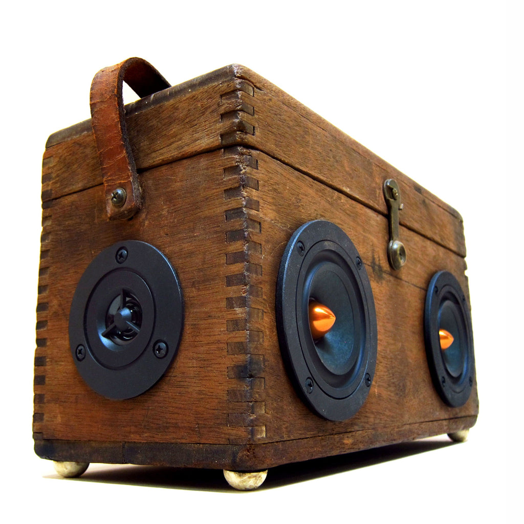 The Prospector 50 Watt BoomCase - vintage suitcase portable boombox