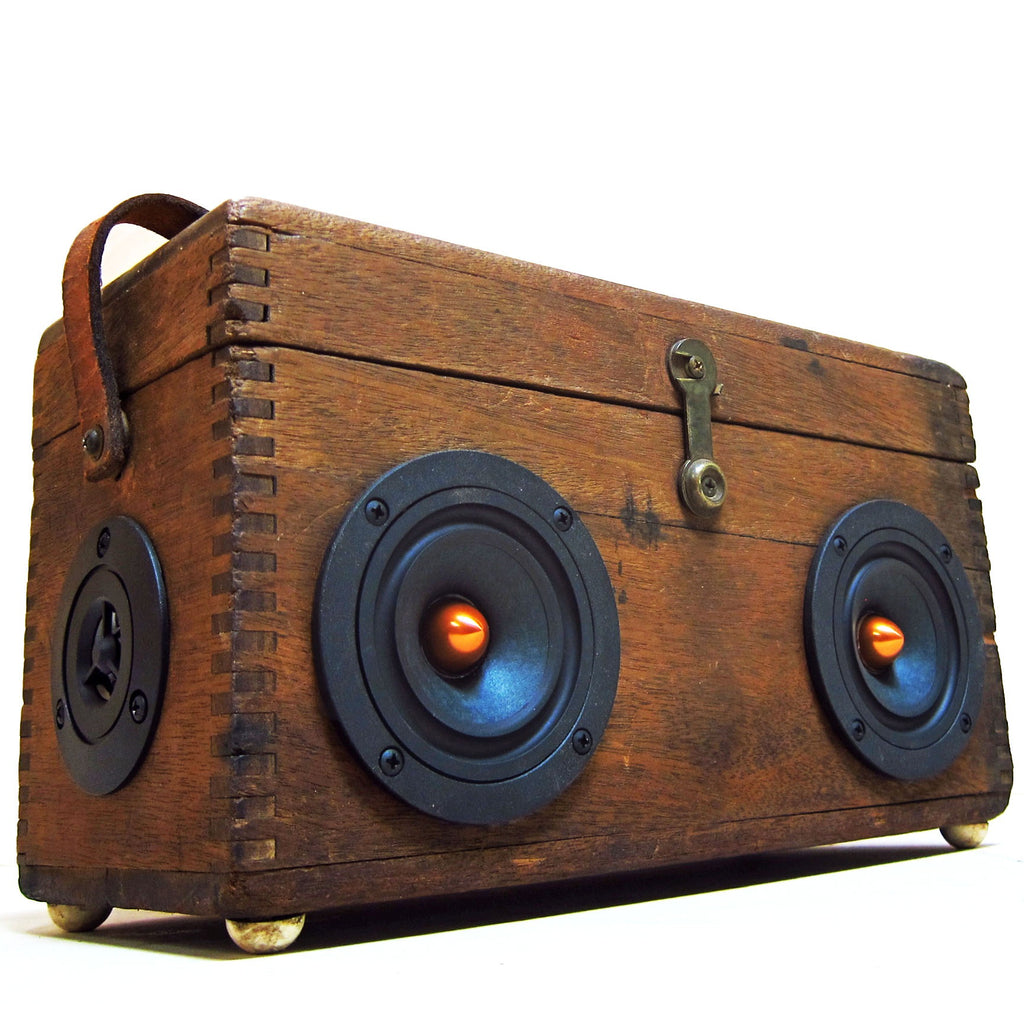 The Prospector 50 Watt BoomCase - Vintage Suitcase BoomBox Suitcase Speaker w/ Bluetooth