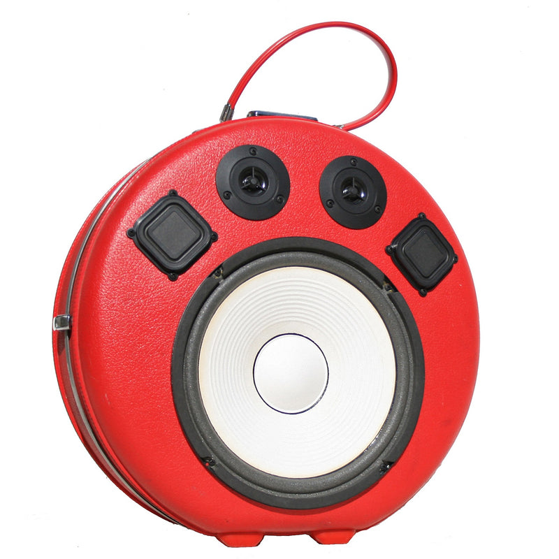 Red Rider 200 Watt BoomCase - Vintage Suitcase BoomBox Suitcase Speaker w/ Bluetooth
