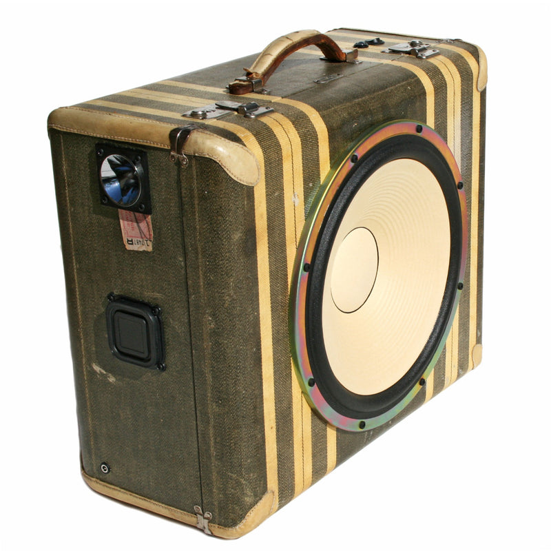 Mr. Shines 200 Watt BoomCase - vintage suitcase portable boombox