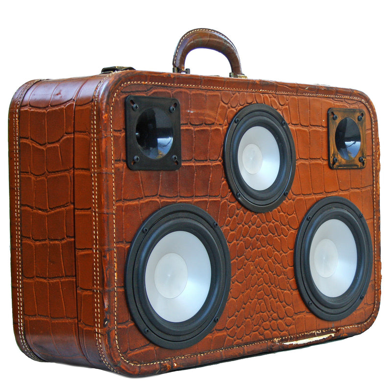 Smooth Gator 200 Watt BoomCase - vintage suitcase portable boombox