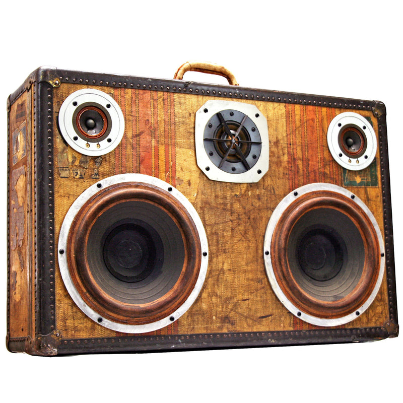 Solid State 400 Watt BoomCase - Vintage Suitcase BoomBox Suitcase Speaker w/ Bluetooth