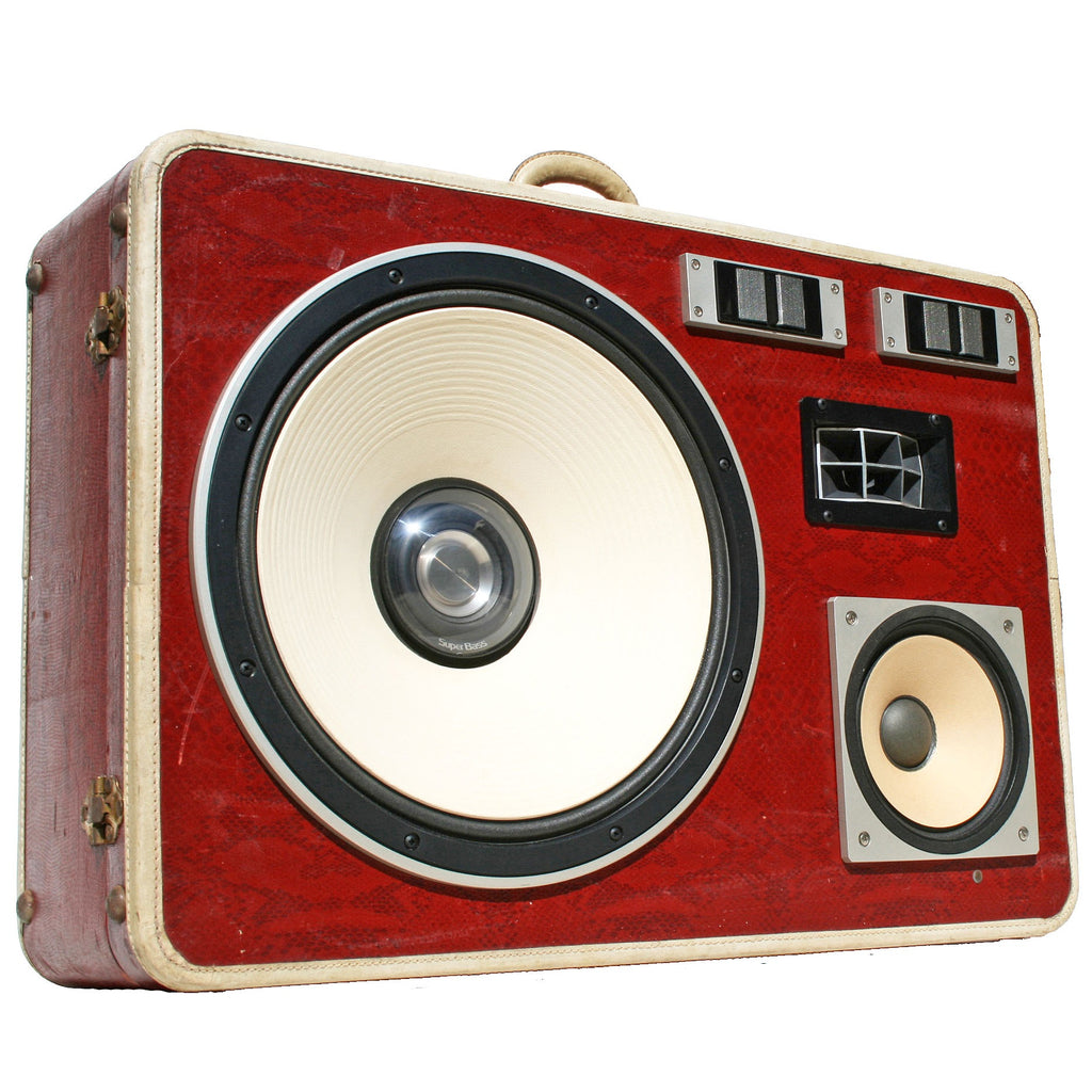 Super Snake Bass 400 Watt BoomCase - Vintage Suitcase BoomBox Suitcase Speaker w/ Bluetooth