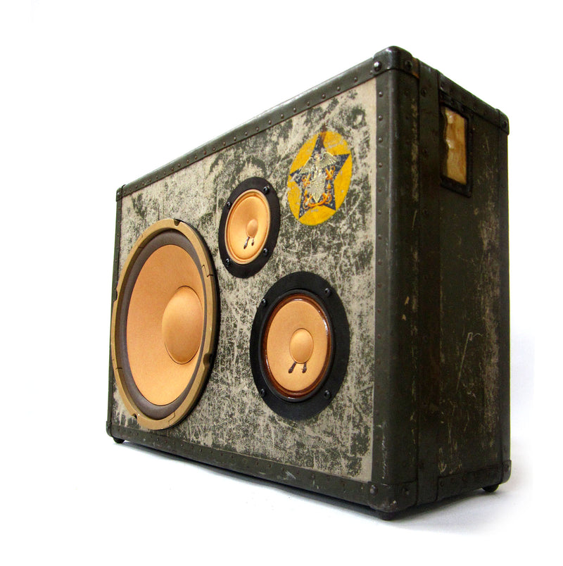 Thump M.A.S.H.E.R. 100 Watt BoomCase - Vintage Suitcase BoomBox Suitcase Speaker w/ Bluetooth
