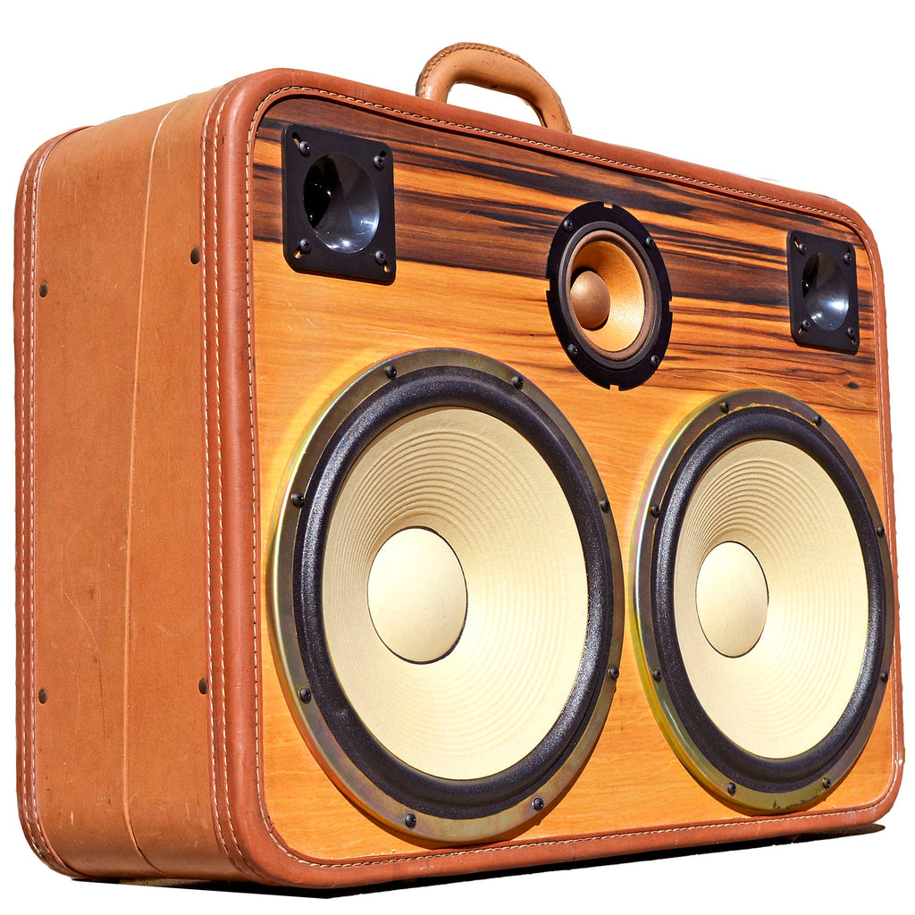 Tiger Boss 400 Watt BoomCase - Vintage Suitcase BoomBox Suitcase Speaker w/ Bluetooth