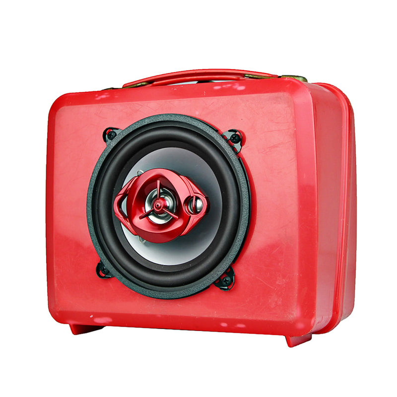 Vintage Transformers Lunch Box BoomBox Speaker BoomCase Bluetooth Red