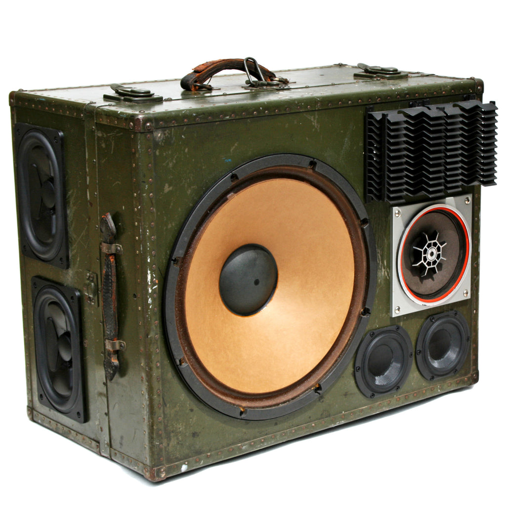 Monster Masher 400 Watt BoomCase - vintage suitcase portable boombox