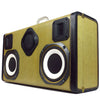Tweedly Blaster 200 Watt BoomCase - Vintage Suitcase BoomBox Suitcase Speaker w/ Bluetooth
