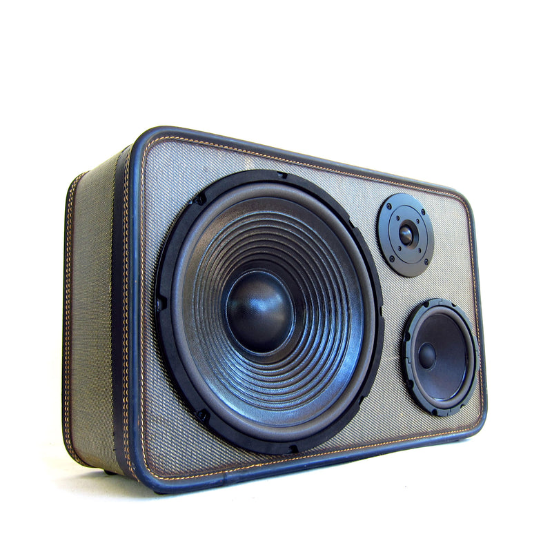 Grey Goose 200 Watt BoomCase - Vintage Suitcase BoomBox Suitcase Speaker w/ Bluetooth