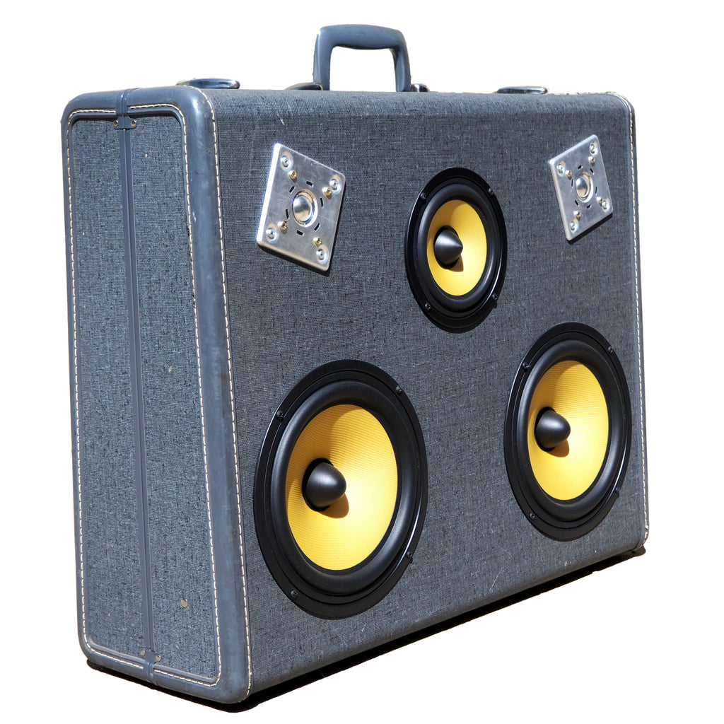 Vintage Suitcase BoomBox Speaker BoomCase Luggage