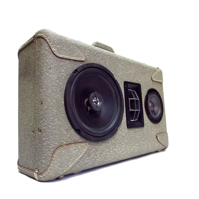 Vogue 200 Watt BoomCase - Vintage Suitcase BoomBox Suitcase Speaker w/ Bluetooth