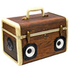 Tiny Traveler 50 Watt BoomCase - Vintage Suitcase BoomBox Suitcase Speaker w/ Bluetooth