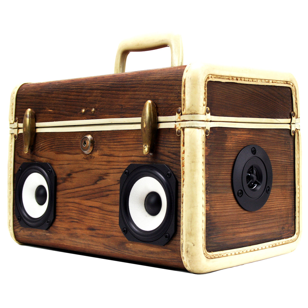 Tiny Traveler 50 Watt BoomCase - vintage suitcase portable boombox