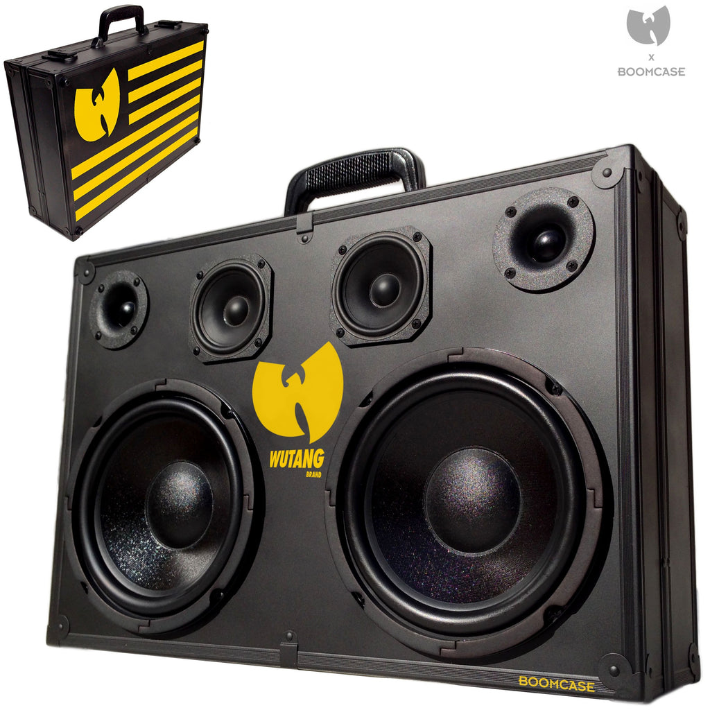 WuTang x BoomCase 200 Watt BoomCase - Vintage Suitcase BoomBox Suitcase Speaker w/ Bluetooth