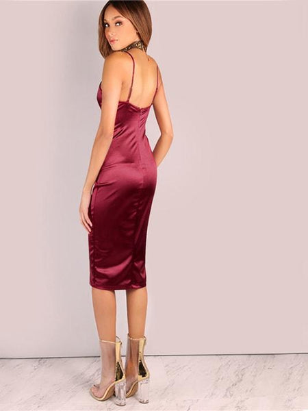 Bodycon Strap Ruched Dress | Vestido Ruched Bodycon Strap - Modernly Fashome