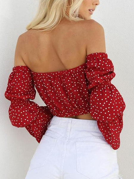 Boho Style Dotted Crop Top - Modernly Fashome